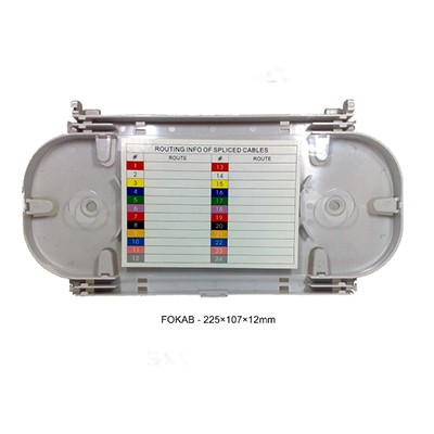 Fokab optička kaseta sa poklopcem,  225 × 107 × 12 mm, za 24 splajsa