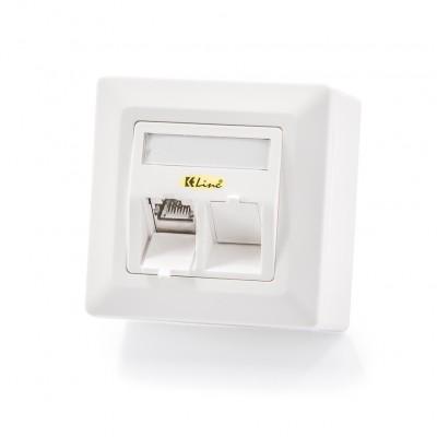 Nazidna kutija, 2-portna, prazna, bijela