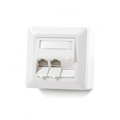 Nazidna kutija, 3-portna, prazna, bijela